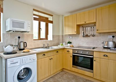 The kitchen at The Cwtch Cottage, East Thorne, Kilkhampton