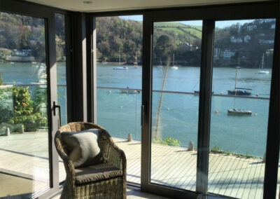 The living area at The Edge, Kingswear