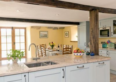 The kitchen at The Farmhouse at Higher Westwater Farm, Westwater