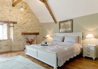Bedroom #1 at The Farmhouse at Higher Westwater Farm, Westwater