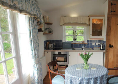 The kitchen & dining area at The Folly, Bratton Fleming