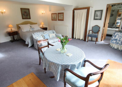 The dining & living area at The Folly, Bratton Fleming