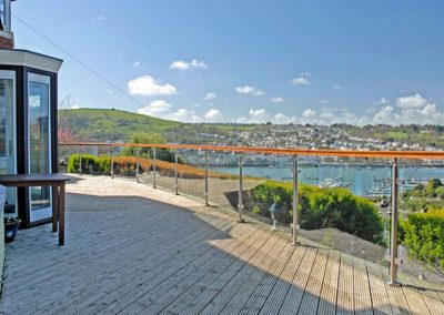 The view from the patio across Dartmouth