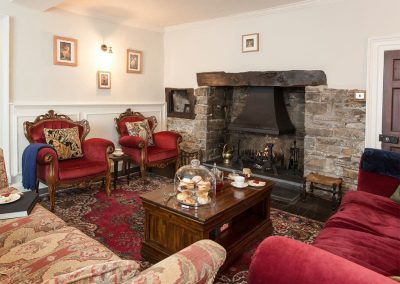 The living area at The House of Black and White, Great Torrington