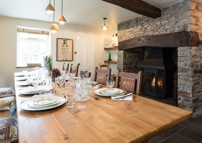 The dining area at The House of Black and White, Great Torrington