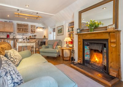 The living area at The Langley Tarne, Mousehole