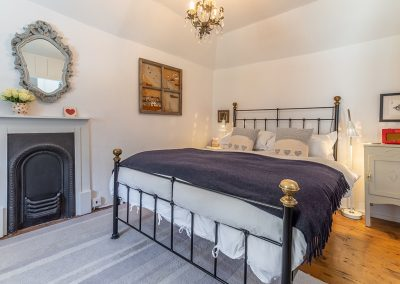 The bedroom at The Langley Tarne, Mousehole