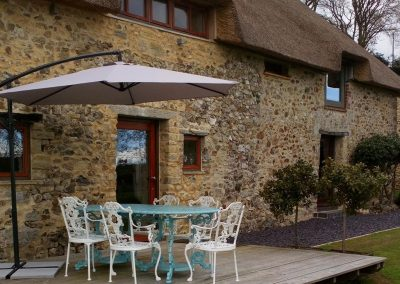 The decked patio at The Manger, Welland