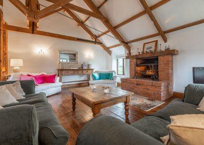The living area at The Millhouse, Roserrow, Polzeath