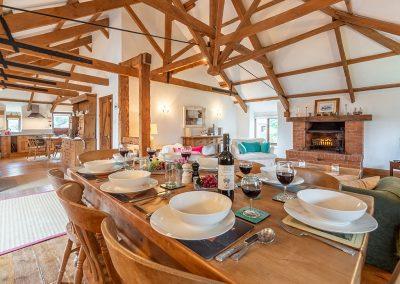 The dining area at The Millhouse, Roserrow, Polzeath