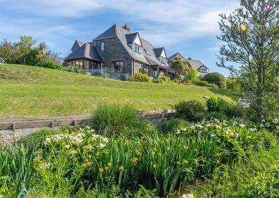 The wraparound garden at The Nineteenth, Roserrow, Polzeath