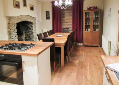 The kitchen & dining area at The Old Police House, Braunton