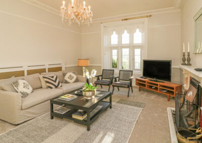 The living room at The Old Rectory, Berrynarbor