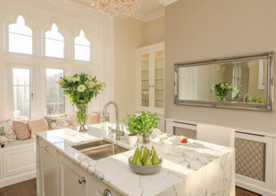 The kitchen at The Old Rectory, Berrynarbor