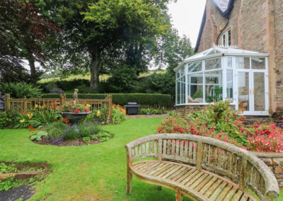 The beautifully manicured garden at The Old Rectory, Berrynarbor