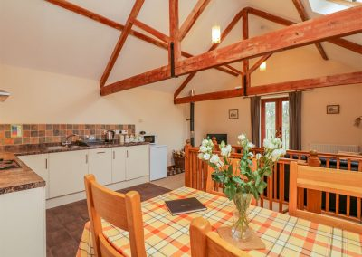 The open-plan kitchen & dining area at The Old Stable, Sidbury