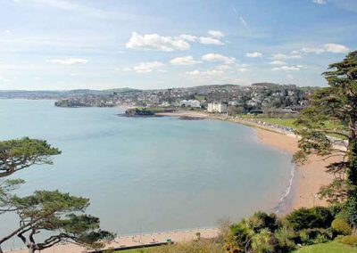 Tore Abbey Sands is just a short walk from The Old Vicarage, Torquay