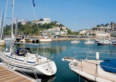 Torquay Marina is just a short walk from The Old Vicarage, Torquay
