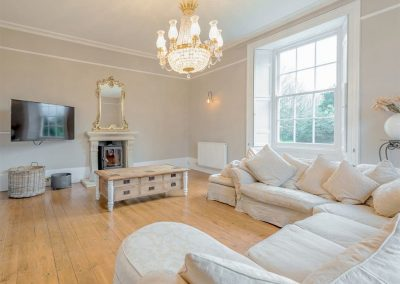 The living area at The Old Vicarage, Lelant