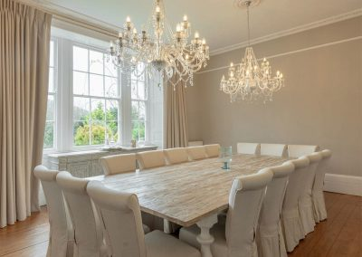 The dining area at The Old Vicarage, Lelant