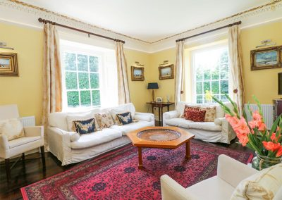 The drawing room at The Old Vicarage, St Issey