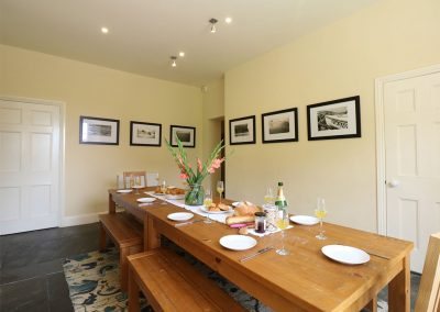 The dining area at The Old Vicarage, St Issey