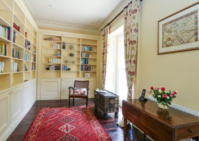 The library at The Old Vicarage, St Issey