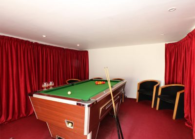 The basement games room at The Old Vicarage, St Issey
