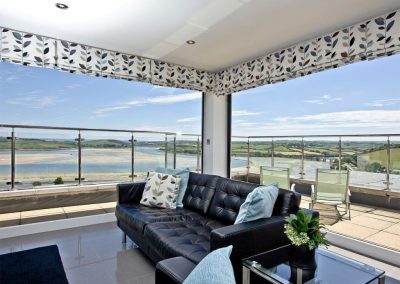 The living area at The Penthouse at Padstow