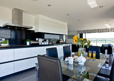 The kitchen & dining area at The Penthouse at Padstow