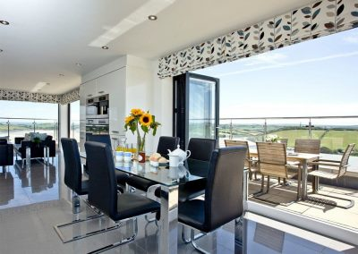 The dining area at The Penthouse at Padstow