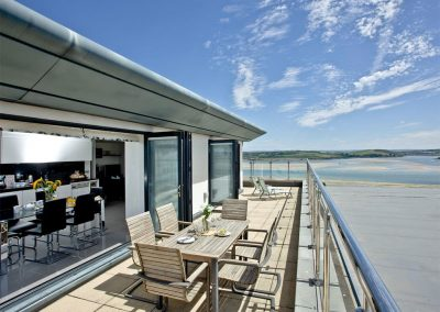 The wraparound terrace at The Penthouse at Padstow