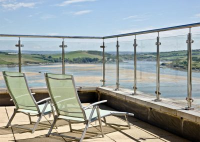 The wraparound terrace & breathtaking view at The Penthouse at Padstow