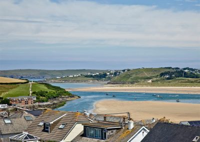 The breathtaking view from The Penthouse at Padstow