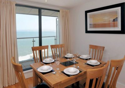 The dining area @ The Penthouse, Nassau Court, Westward Ho!