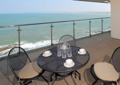 The panoramic view from the balcony @ The Penthouse, Nassau Court, Westward Ho!
