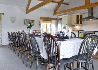 The dining area at The Place 2 B, Higher Churchtown Farm, Tresmeer