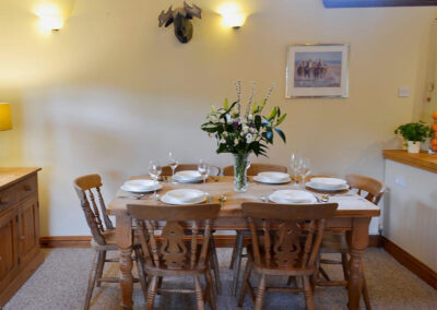 The dining area at The Pound House, Blagdon
