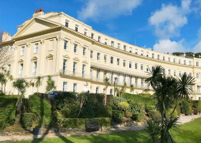 The Regency Apartment, Torquay is on a semi-circle of palatial town houses