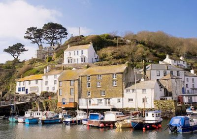 The pretty Polperro Harbour is just a short walk from The Rigging