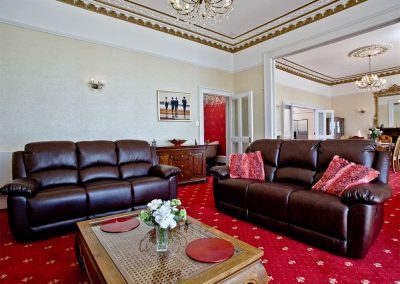 The living area at The Riviera Mansion, Torquay
