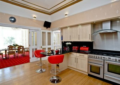 The kitchen at The Riviera Mansion, Torquay