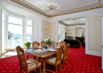 The dining area at The Riviera Mansion, Torquay