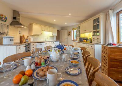 The kitchen at The Roundhouse, Roserrow, Polzeath