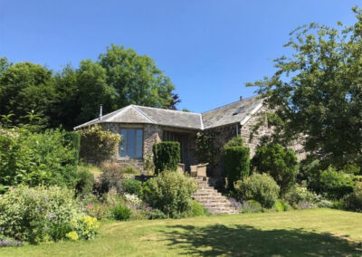 The garden at The Roundhouse, West Anstey