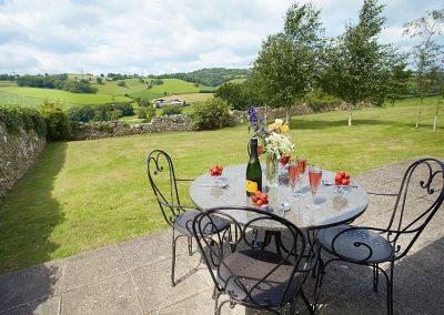 The terrace & garden at The Shippen, Welland