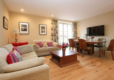 The living area at The Spyglass, Penzance