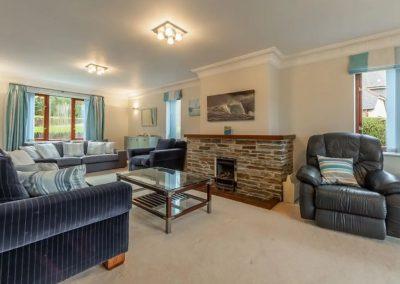 The living area at The Summerhouse, Roserrow, Polzeath