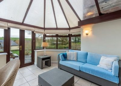 The conservatory at The Summerhouse, Roserrow, Polzeath