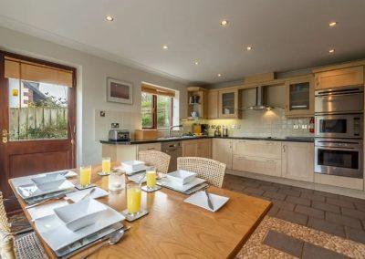 The kitchen at The Summerhouse, Roserrow, Polzeath